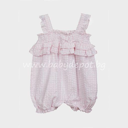 Babaluno baby - Розов летен гащеризон
